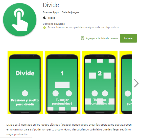 Divide juego android