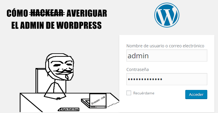 Averiguar admin WordPress