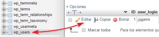 Editar wp_users